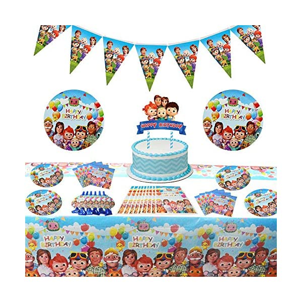Party   for Boys and 68pcs Cocomelon Birthday Party Supplies for 1st Birthday