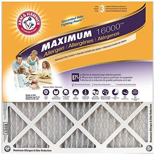 20x20x1 Arm and Hammer; Max Allergen Air Filter, MERV 11 (4-pack)