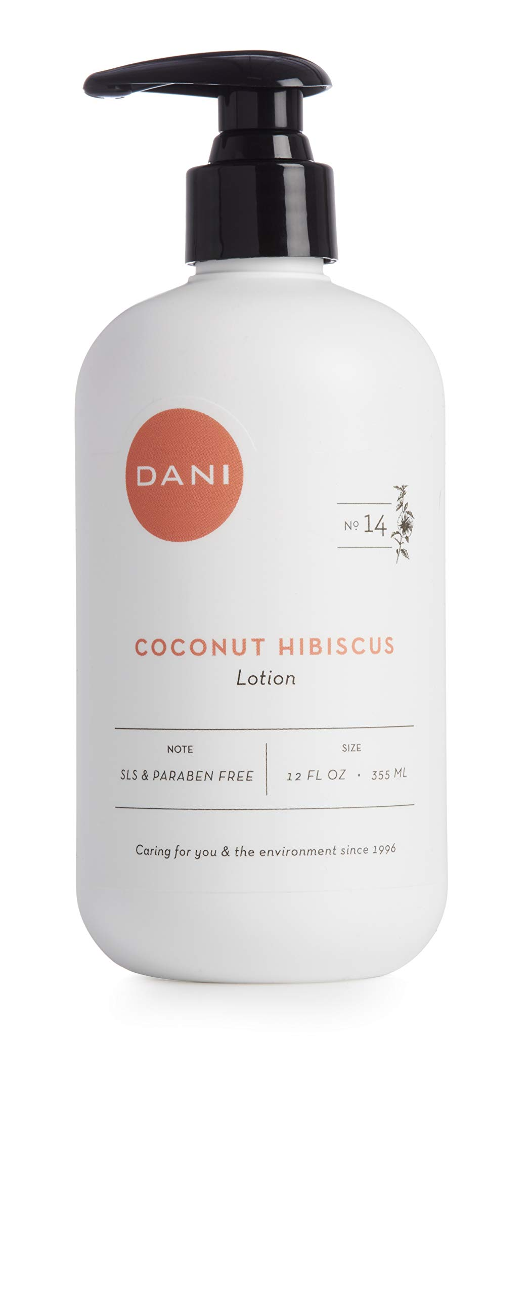 Natural Hand & Body Lotion by DANI Naturals - Tropical Coconut Hibiscus Scented Aromatherapy - Moisturizing Shea & Aloe - with Natural & Organic Ingredients - To Nourish Dry Skin - 12 Ounce Bottle by DANI