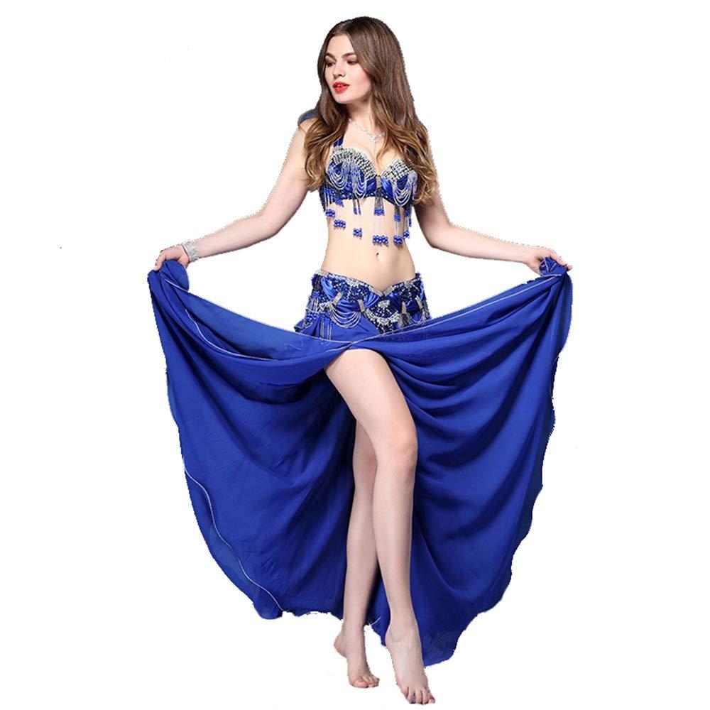 Belly Dance Costume Bra y Falda Conjunto Mujeres Belly Dance Dress ...