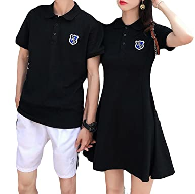 4248f92b5edb2 BeiBang(バイバン) ペアルック 夏物 トップス ワンピース メンズTシャツ 韓国ファッション ストリート おしゃれポロシャツ