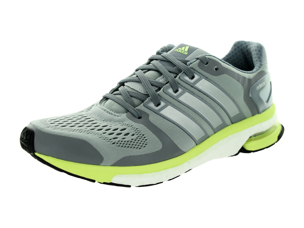 adidas Adistar Boost ESM Women Round Toe Synthetic Gray Running Shoe B00W46NFBY 8.5 B(M) US|Light Grey/Lime Green