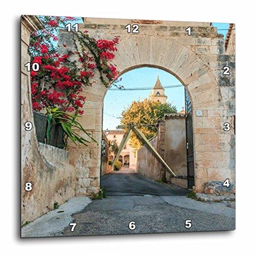 3dRose Danita Delimont - Architecture - Spain, Balearic Islands, Mallorca, church gateway. - 13x13 Wall Clock (dpp_277909_2) by 3dRose