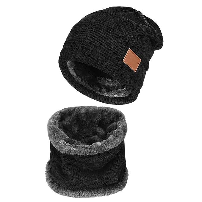 Yidarton Cappello Invernale Berretto E Sciarpa Invernale A Maglia Cappello e  scalda collo Set (black)  Amazon.it  Abbigliamento c0735b3c611e