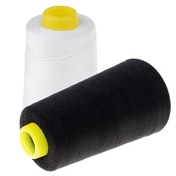 Magideal 2 bobinas hilo de coser de poliéster para máquinas de coser a mano y máquina 4500 M: Amazon.es: Hogar