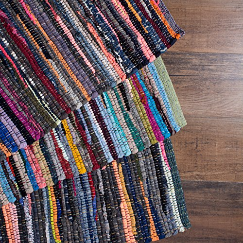 "DII Home Essentials Rag Rug for Kitchen, Livingroom, Entry Way, Laundry Room, and Bedroom (20 x 31.5""), Multi Colored"