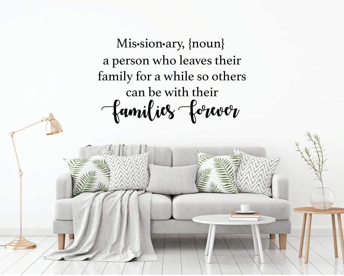 Nat999Lily LDS Missionary Gift Wall Decal Missionary Definition Vinyl Decoration for Home Bedroom Living Room Missionary Gift
