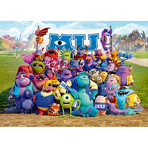 Monsters University Baby Shower Photo Background Tabletop 7x5ft Vinyl Backdrop Cartoon School Green Lawn with Monsters Backdrop for Birthday Party Decor