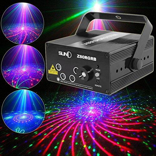SUNY 5 Len RGB Laser Light Gobo LED Lighting Z80RGRB for DJ Home Show Event Party Decoration (Dj Laser Lights)