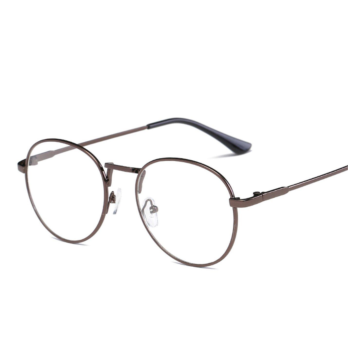 Amazon.com: Vintage Round Glasses frame retro Female Brand ...