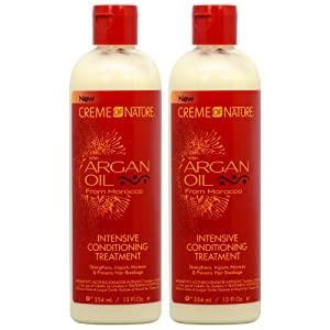 "Creme of Nature Argan Oil Intensive Conditioning Treatment 12oz""Pack of 2"""