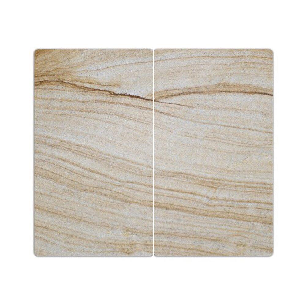 Copri piano cottura piastre con gommini antiscivolo set di 2 tagliere stampa: arenaria-al DekoGlas 2-teilig