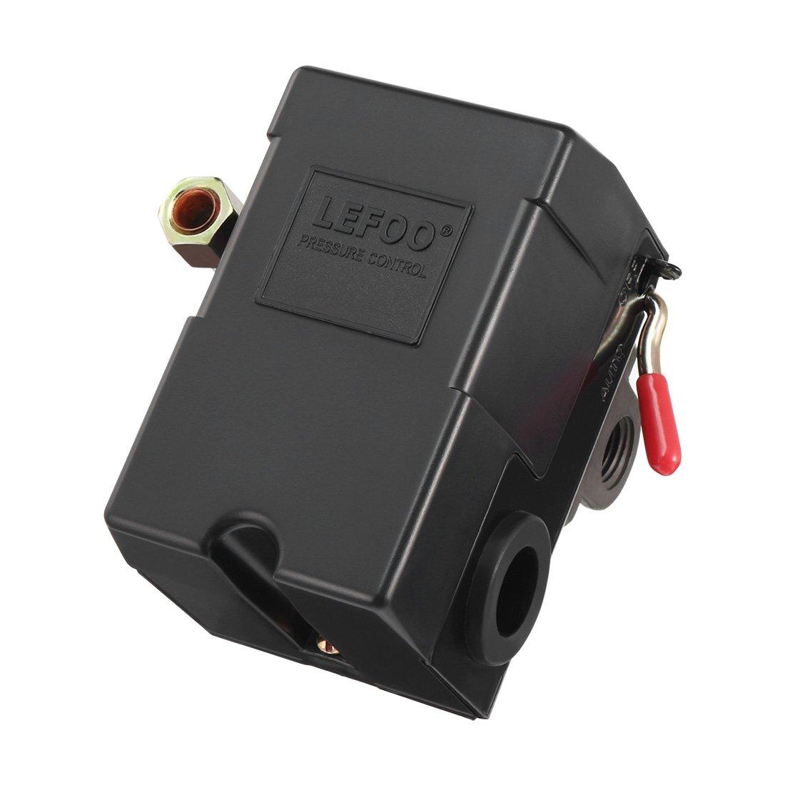 uxcell 20A 57-85 PSi 4 Port Air Compressor Pressure Switch Control Valve a17061300ux0130