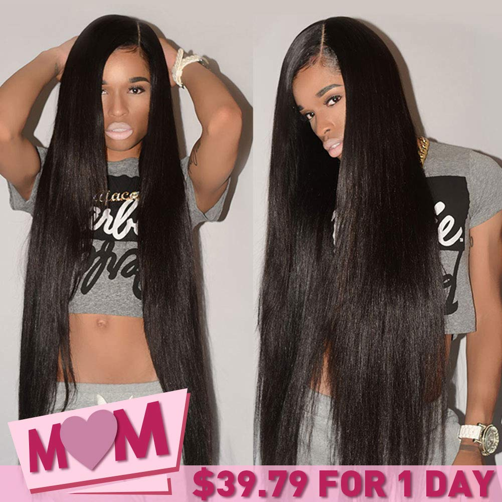 CYNOSURE Brazilian Hair 3 Bundles 8A Virgin Unprocessed Straight Human Hair 18 20 22inches Brazilian Straight Hair by CYNOSURE (Image #1)