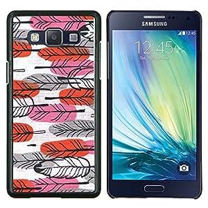 LECELL--Funda protectora / Cubierta / Piel For Samsung Galaxy A5 A5000 -- Pascua Rojo Rosa Mano Arte Dibujado --