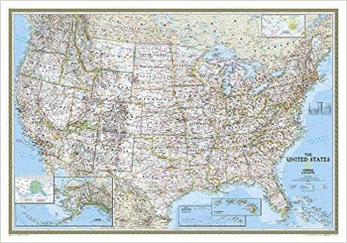Buy United States Classic Laminated Wall Maps U S Reference