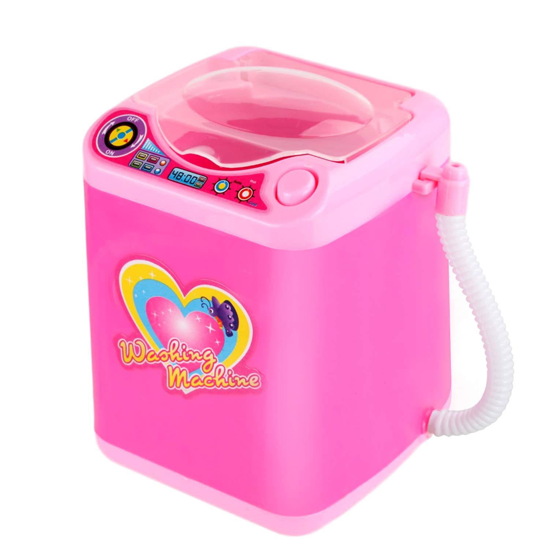 DOTSOG Mini Electric Makeup Brush Cleaner Makeup Sponge Washing Machine Dollhouse Toy Cosmetic Brush Powder Puff Washer Beauty Cleaning makeup Tool