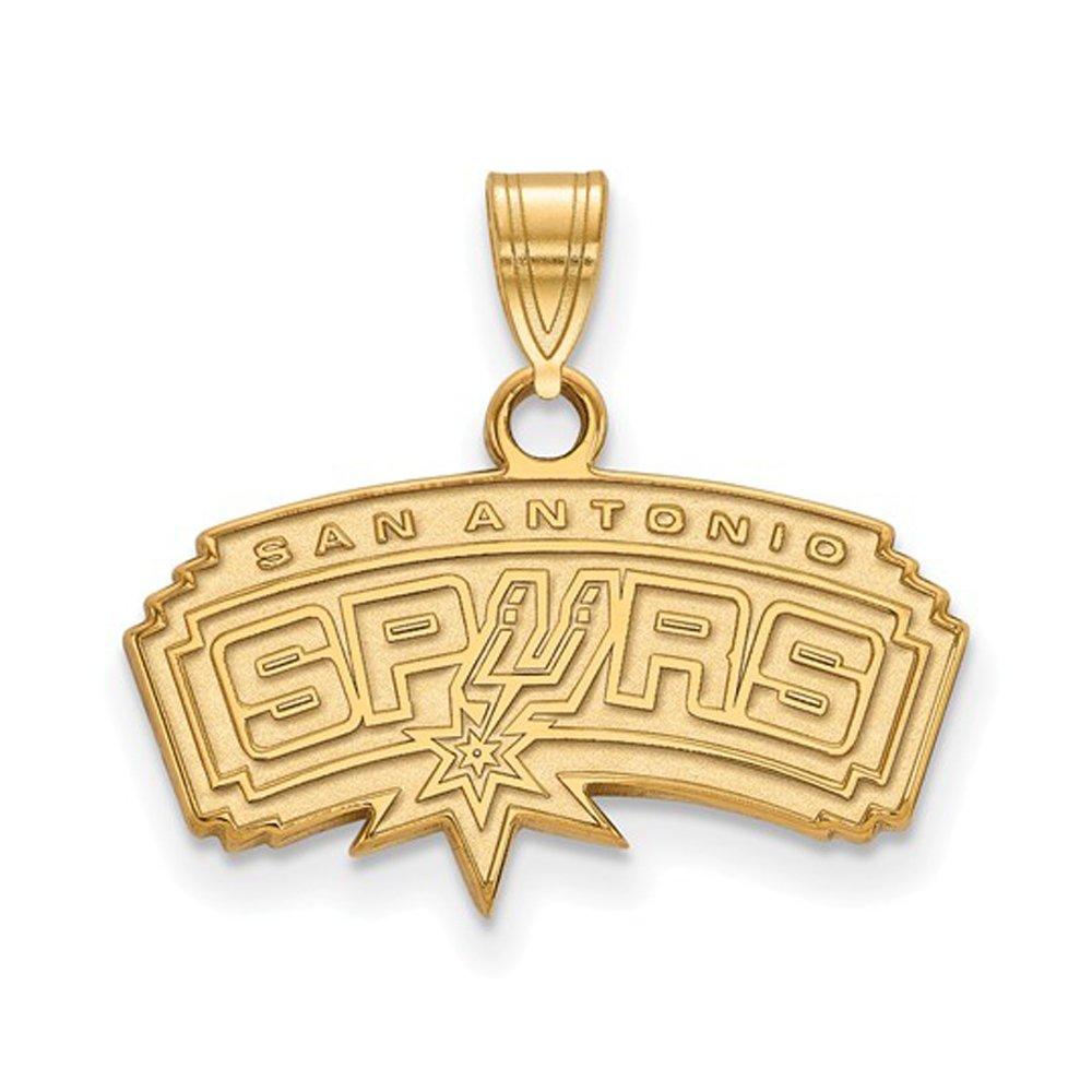 NBA San Antonio Spurs Small Logo Pendant in 10K Yellow Gold