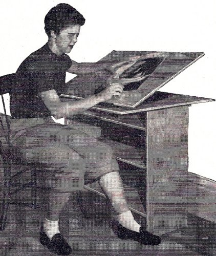 - Woodworking Plan Pattern to make - Folding Student Desk Bookcase. NOT a finished item. This is a pattern and/or instructions to make the item only.