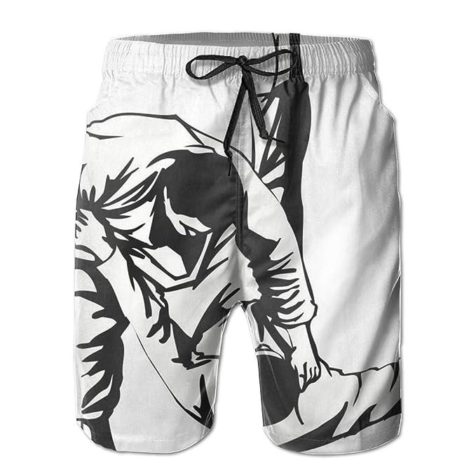 8ed2dcf8a3 Cjhxqt Judo Sport Mens Boardshorts Board Shorts Quick Dry Soccer Shorts  Mens Swim Trunks