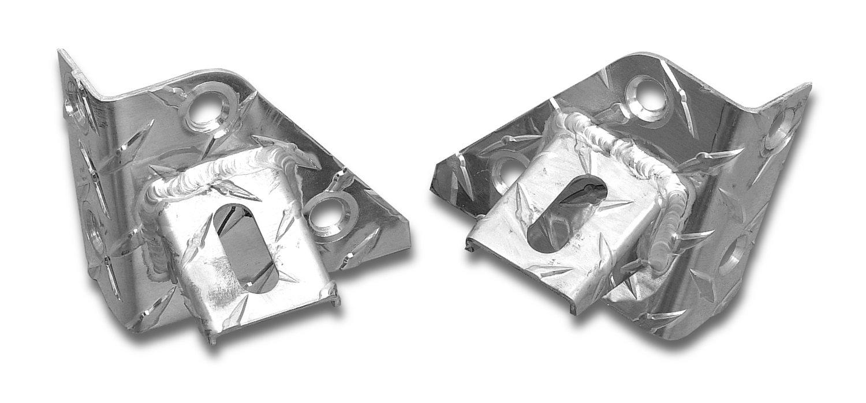 Warrior Products 1503 Diamond Tread Aluminum Windshield Light Bracket for Jeep CJ and Jeep YJ 76-96
