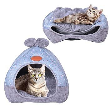 Urijk 1 Pcs Creativa cama plegable antideslizante gatos Casa gatos Villa para gatos