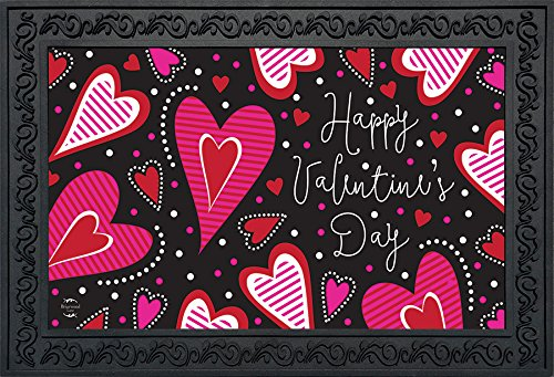 Dancing Hearts Valentine's Day Doormat Primitive Indoor Outd