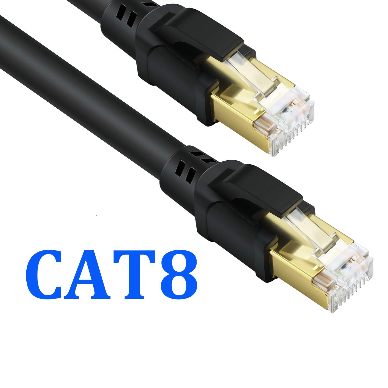 LanYunUmi CAT8 Ethernet Cable,Professional Network Patch Cable 40Gbps 2000Mhz S/FTP LAN Wires, High Speed Internet Cable Cord with RJ45 Gold (CAT8 (49FT/15M)) by LanYunUmi