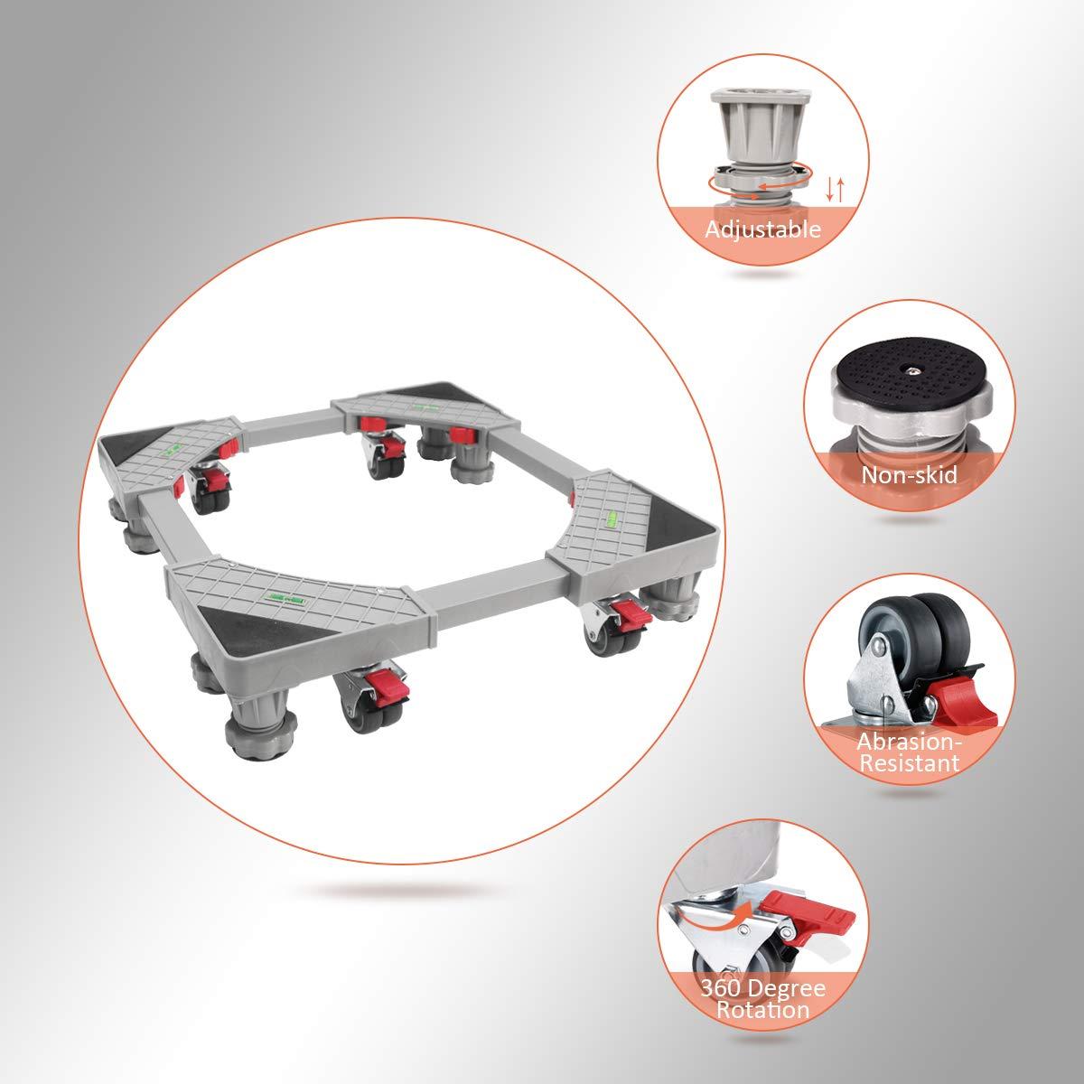 Muebles Dolly Rollers Base móvil ajustable con ruedas giratorias ...