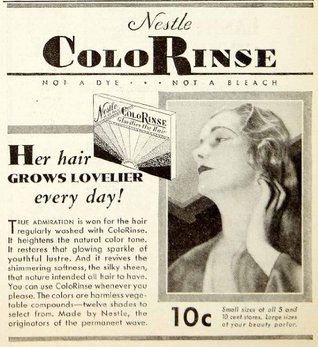 1931-advert-nestle-colorinse-haircare-tint-beauty-silky-sheen-wash-colorant-girl-original-print-ad
