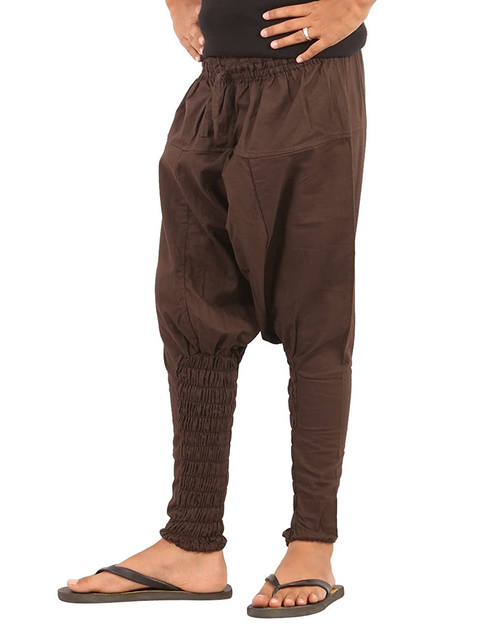 439823756 Amazon.com: The Harem Studio Kids Harem Cotton Drop Crotch Pants (L, Black):  Clothing