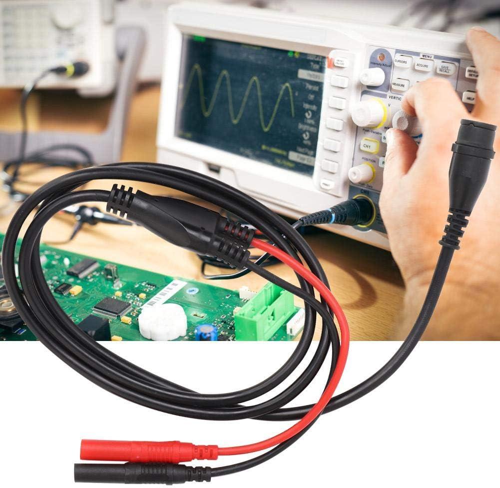 BNC Turn Banana Plug Connector, P1206 100m Banana Connector Cable coaxial Osciloscopio Línea de prueba con círculos de colores: Amazon.es: Bricolaje y herramientas