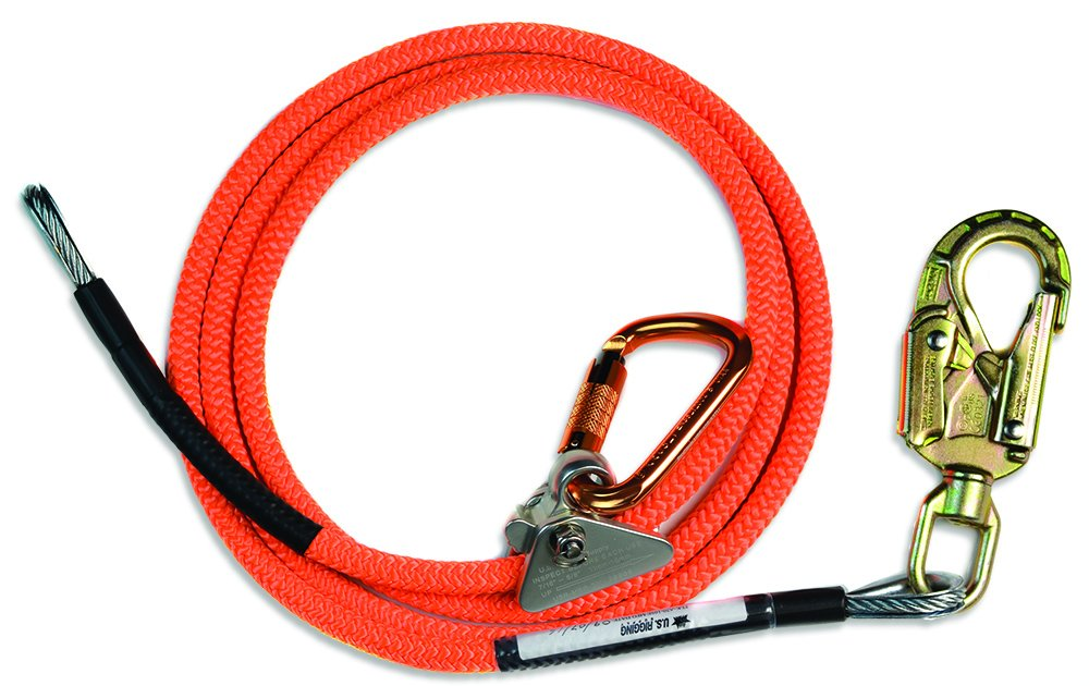 ProClimb Fall Protection Stainless Steel Core All-In-One Arborist Flip Line Swivel Kit 5/8'' x 14' Lanyard
