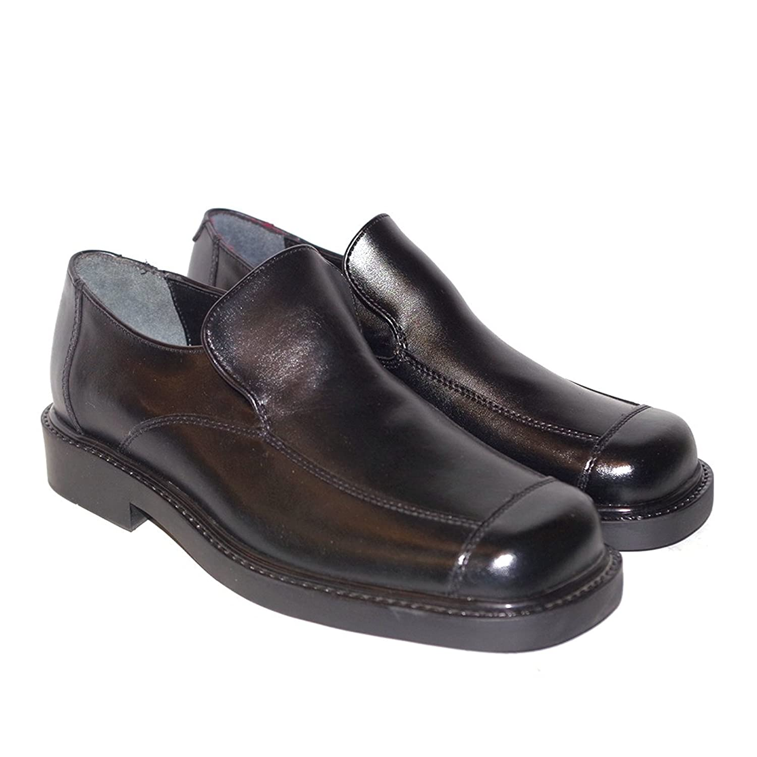 Men's Casual Fridays (Q37045811) Bruno  Color Black  Men's Square Toe Slip On Dress Shoes