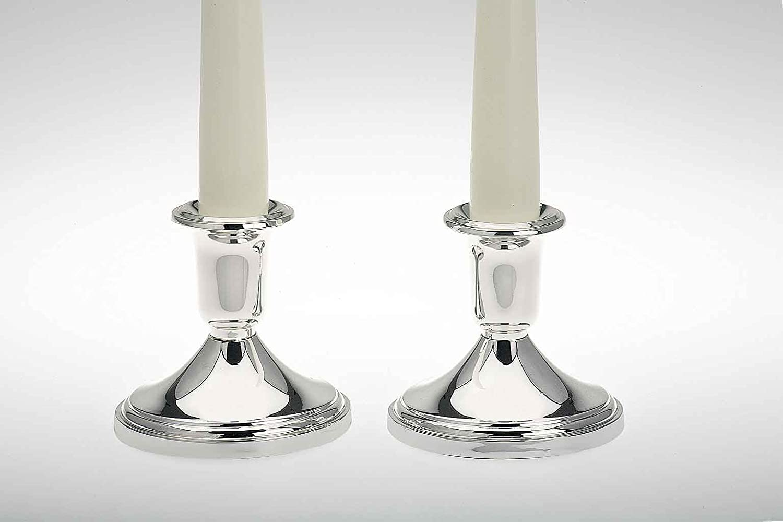 einarmiger Kerzenleuchter 30 cm groß Leuchter Kerzenständer Kerzenhalter silber