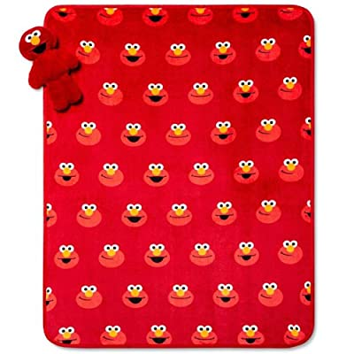 Elmo Character Pillow Toy Plush Throw Set: Home & Kitchen
