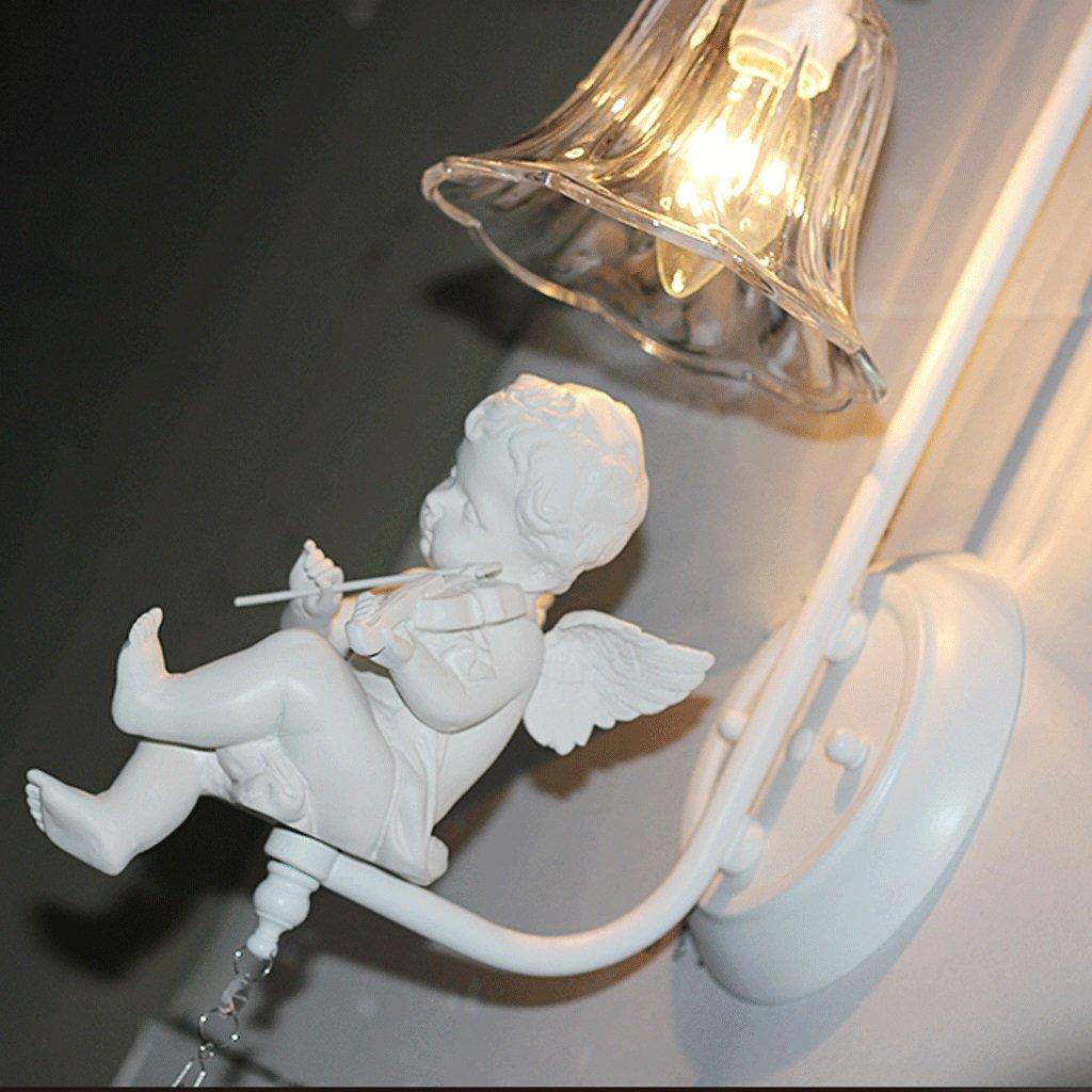 Unbekannt GJ Engel Wandleuchte-Nordeuropa Kreativität Kinderzimmer Schlafzimmer Nachttisch American Einfache Ehe Zimmer Europa Stil Wohnzimmer Doppelkopf Persönlichkeit Engel Wandleuchte GJV