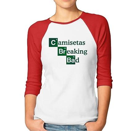 BBGD Camisetas Breaking Bad Womens Baseball T-shirt SizeXL