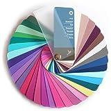Paleta de color en formato abanico para el color tipo Verano con 35 colores