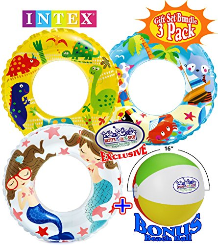 Matty's Toy Stop Ocean Reef Transparent Swim Rings (24