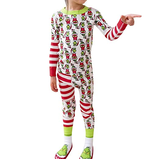adf48756afa Image Unavailable. Image not available for. Color  Family Matching Xmas  Pajamas Set Women Kid Dad Adult PJs Fun Sleepwear Nightwear