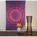 Tapestry Single Purple New More tapestries Wall Hanging Art Decor Mandala Tapestry Hippie Dorm 84X55 inches AAKRITI GALLERY