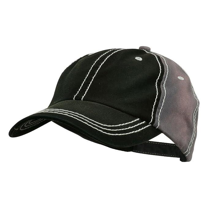 MG Cotton Twill Wash Distressed Cap - Black Grey OSFM at Amazon ... 9736efaae432