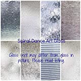 "CLEAR TEXTURED Glass Variety (6"" x 8"") Pack 8 Sheets Stained Glass"