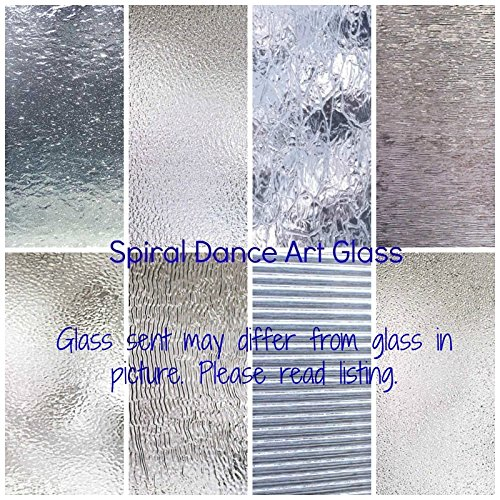 CLEAR TEXTURED Glass Variety (6'' x 8'') Pack 8 Sheets Stained Glass by Spiral Dance Art Glass