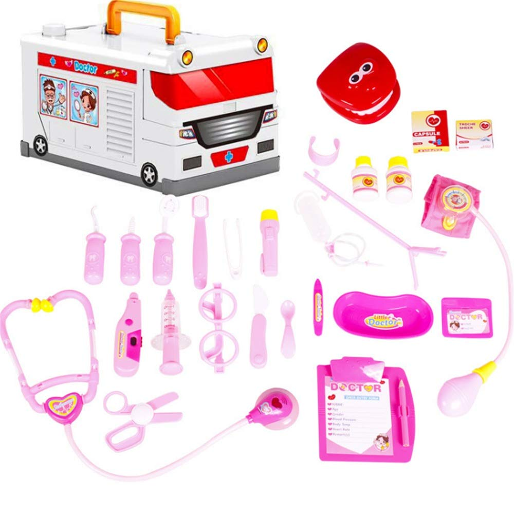 Toys Game Set for Kids Toy Ambulance Little Doctor Kit Medical Trolly Nurse Toys Role Play Doctors Toy Set Toys Cosplay Girls Boys Toy For Baby Kids Early Age Development Educational Pretend Play Asso