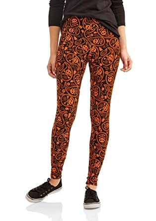 18216c32e7972 Faded Glory Women's Leggings Halloween Gothic Paisley-Skulls Size XL at  Amazon Women's Clothing store: