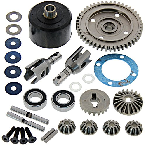 Mugen 1/8 MBX8 Nitro Buggy Center DIFFENTIAL CASE, OUTDRIVE Cups & SPUR Gear