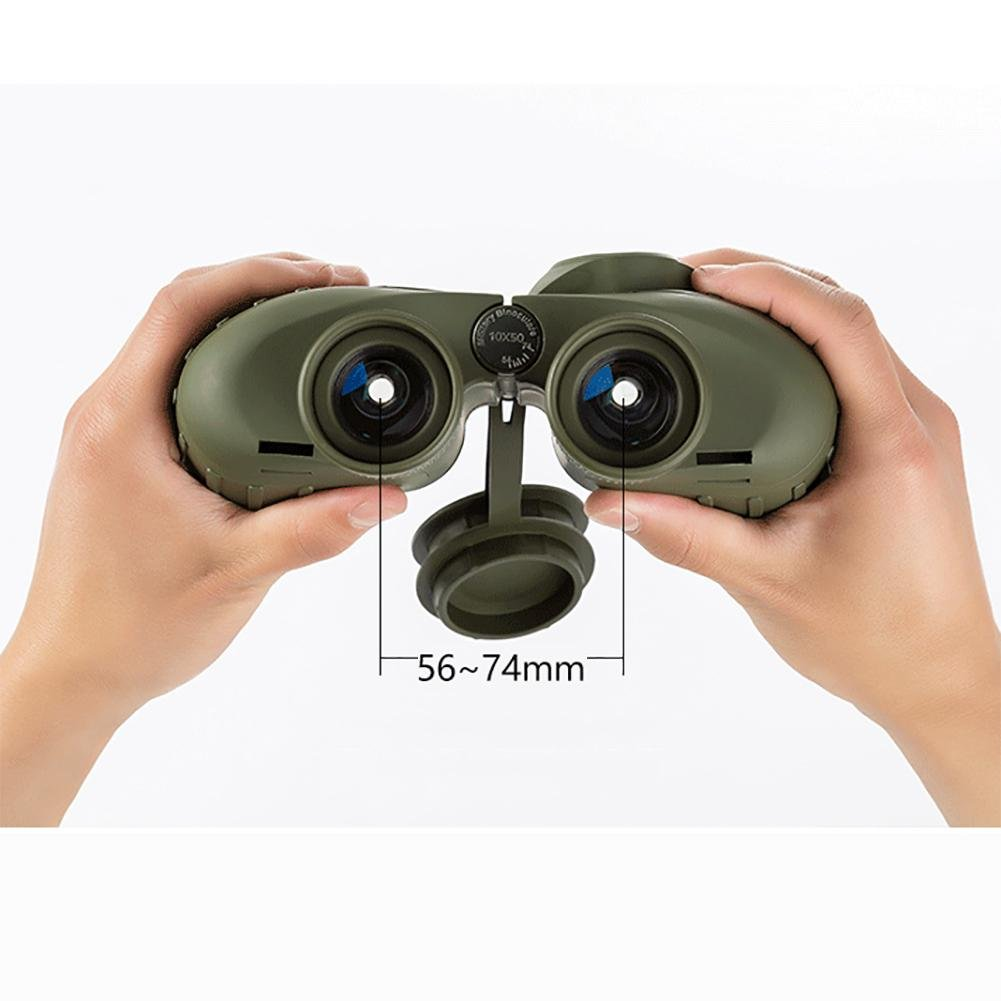 MIAO Outdoor Adult Military Standard High - Definition High Power 10x50 Micro - Light Night Vision Ranging Binoculars with Compass Coordinates by miaomiao (Image #1)