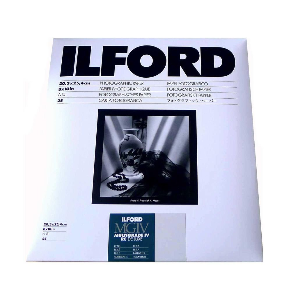 Ilford Multigrade IV RC Deluxe Resin Coated VC Variable Contrast Black & White Enlarging Paper - 8x10'' - 25 Sheets - Pearl Surface